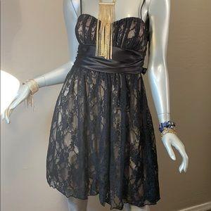 Speechless Mini Dress Lace Black
